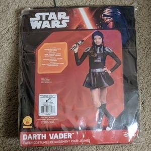 Star wars Darth Vader tween costume medium